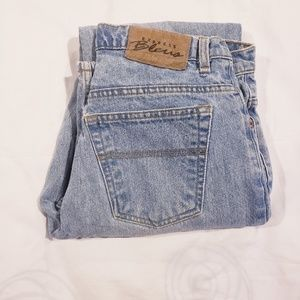 Vintage Express Bleus High Waisted Mom Jeans